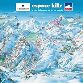 ESPACE KILLY : INTERACTIVE SKI RUN MAP