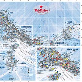 VAL D'ISÈRE : INTERACTIVE VILLAGE MAP.